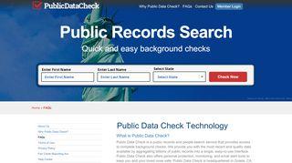 FAQs - Public Data Check