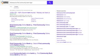 fcbresource first community bank login - WOW.com - Content ...