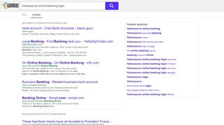 fcbresource online banking login - WOW.com - Content Results