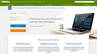 Fidelity Investments - Retirement Plans, Investing, Brokerage ...