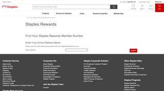 Find Staples Rewards Account - Staples Rewards