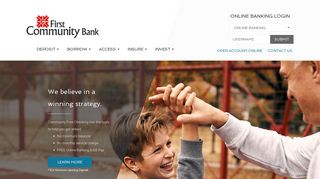 First Community Bank, Bluefield, VA - Home Page