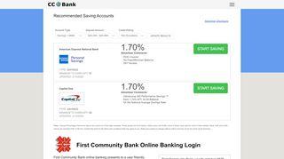 First Community Bank Online Banking Login - CC Bank
