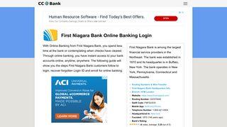 First Niagara Bank Online Banking Login - CC Bank