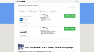 First State Bank Central Texas Online Banking Login - CC Bank