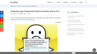 Fix Snapchat Login Temporarily Failed on Android - FonePaw
