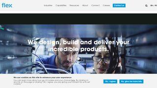 FLEX.com  Concept design, manufacturing and logistics
