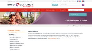 For Patients - Roper St. Francis