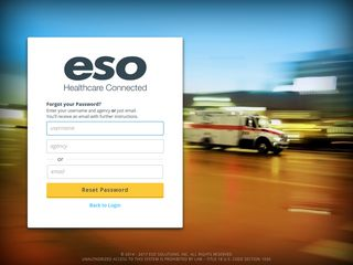 Forgot Password to ESO Suite