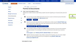 Forms & Documents | Allstate Insurance Company