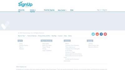 Free online sign up sheet, volunteer ... - About SignUp.com