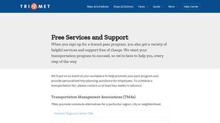Free Services and Support - TriMet