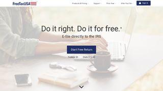 FreeTaxUSA® FREE Tax Filing, Online Return Preparation, E ...