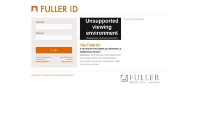 Fuller Login