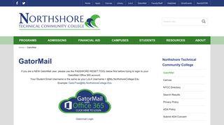 GatorMail   Northshore Technical Community College