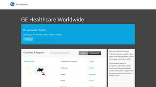 GE Healthcare: Healthcare Systems Home