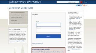 Georgetown Google Apps | Georgetown University
