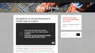 Georgetown to convert Hoyamail to Google Apps in August ...
