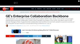 GE's Enterprise Collaboration Backbone   ZDNet