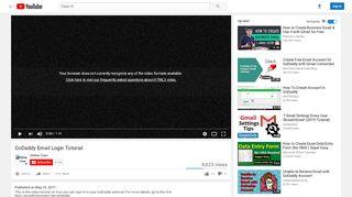 GoDaddy Email Login Tutorial - YouTube