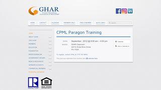 Greater Harrisburg Association of REALTORS® » CPML Paragon ...