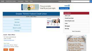 Greater TEXAS Federal Credit Union - Austin, TX