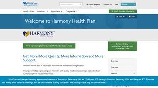 Harmony Health Plan | WellCare