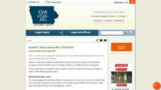 hawk-i Insurance for Children   Iowa Legal Aid