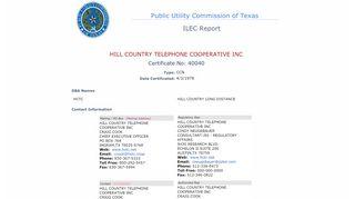 HCTC - ILEC Report