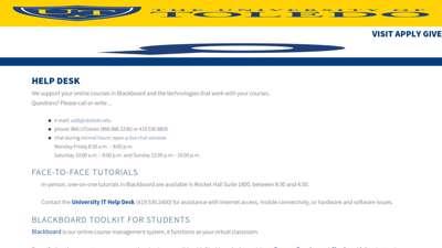 Help Desk - University of Toledo