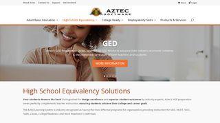 High School Equivalency | Aztec Software