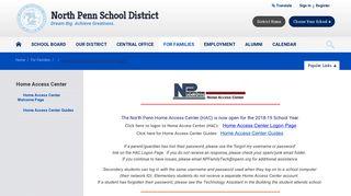 Home Access Center - North Penn School District