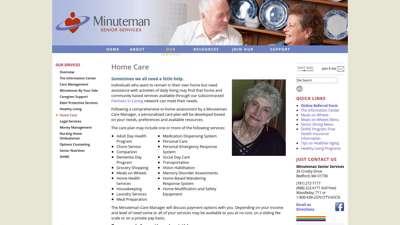 Home Care — Minuteman Senior Services