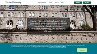 Homepage | Information Technology - Tulane University