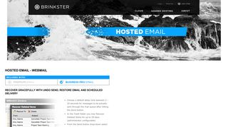 Hosted Email - Webmail - Brinkster