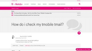 How do i check my tmobile tmail? | T-Mobile Support