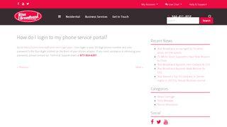 How do I login to my phone service portal? - Rise Broadband