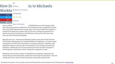 How do you log in to Michaels Workbrain? | Reference.com