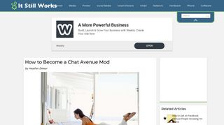 How to Become a Chat Avenue Mod | It Still Works