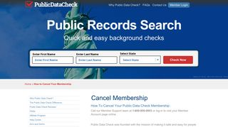 How to Cancel Your Membership - Public Data Check