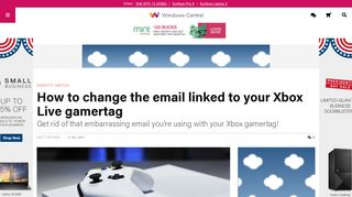 How to change the email linked to your Xbox Live gamertag ...