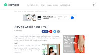 How to Check Your Tmail | Techwalla.com