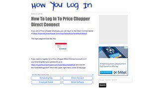 How To Log In To Price Chopper Direct Connect