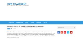 How to Login to Godaddy Email Account - YouTube