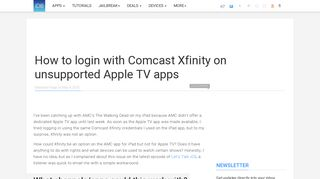 How to login with Comcast Xfinity on unsupported Apple TV ...