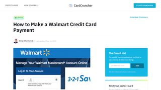 How to Make a Walmart Credit Card Payment   CardCruncher