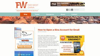 How to Open a Sina Account for Email | Xinjiang: Far West ...