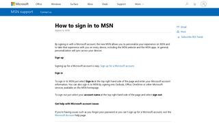 How to sign in to MSN - Microsoft Support