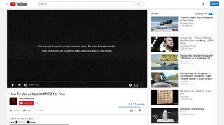 How To Use Antipublic MYRZ For Free - YouTube