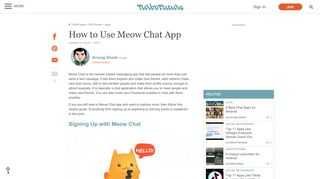 How to Use Meow Chat App | TurboFuture